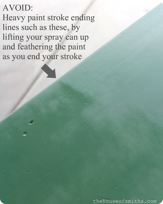 How to Spray Paint Furniture - thehouseofsmiths.com
