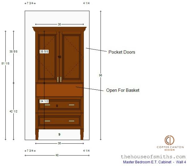 Master Bedroom TV storage cabinet design - thehouseofsmiths.com