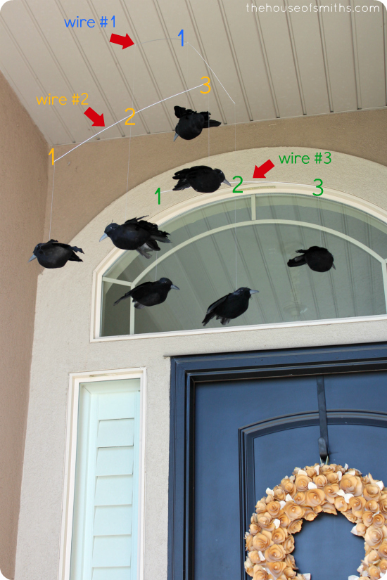 Pottery Barn Crow Mobile Knockoff - thehouseofsmiths.com