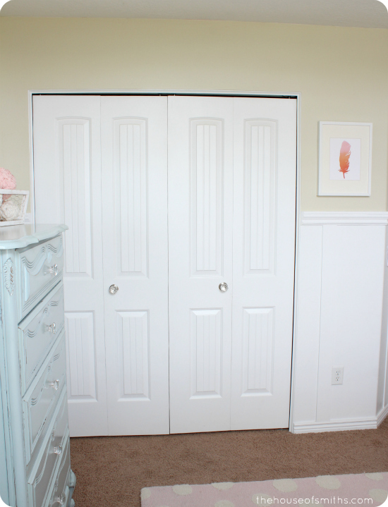Girly Room Makeover - pink, yellow and blue - thehouseofsmiths.com