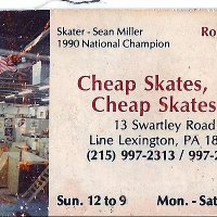 297: The Almighty Sean Miller 1990 National Champion, Cheap Skates Business Card