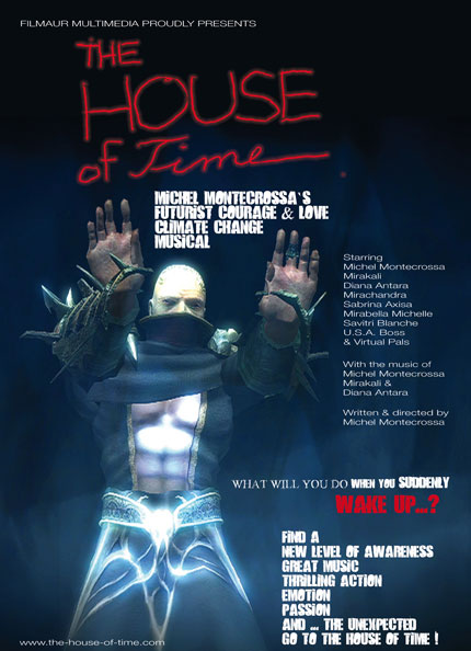Poster - Michel Montecrossa sci-fi CG Action Thriller 'The House Of Time'
