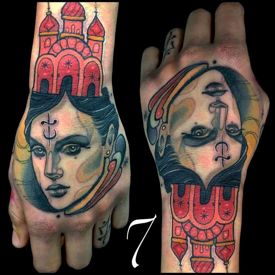 tattoo artist adrian seven germany europe mexico occult tatto symbol magick alchemy sigil
