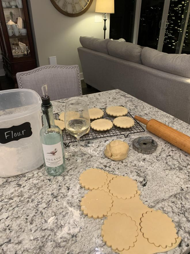 Drinking wine and baking with Costco's Wine Advent Calendar