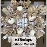Diy Burlap Ribbon Wreath The House On Silverado