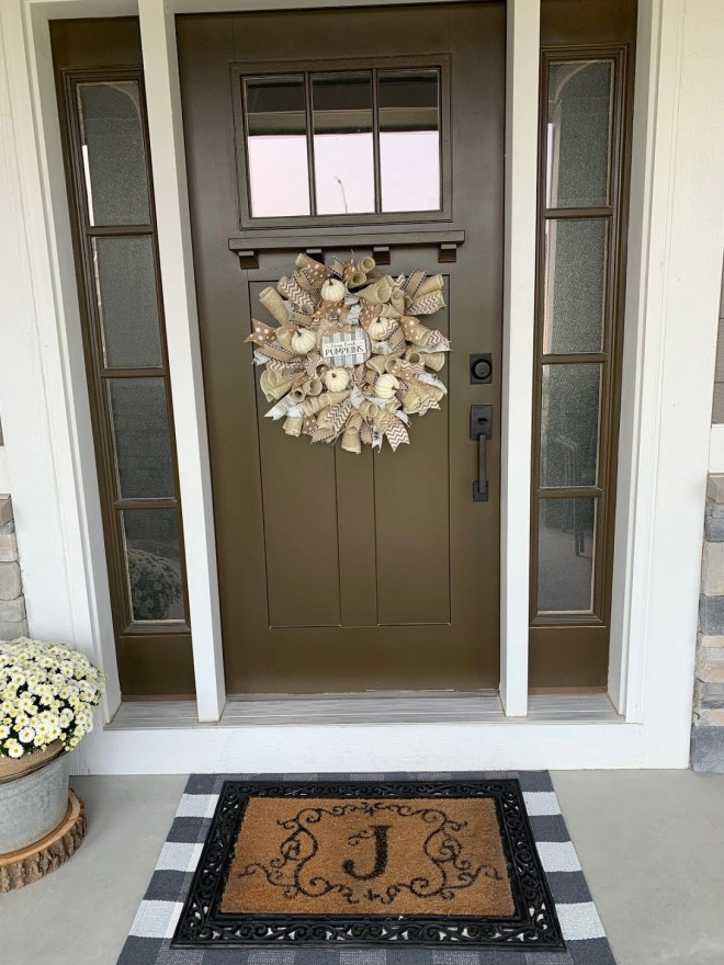 Seasonal Front door idea for the porch