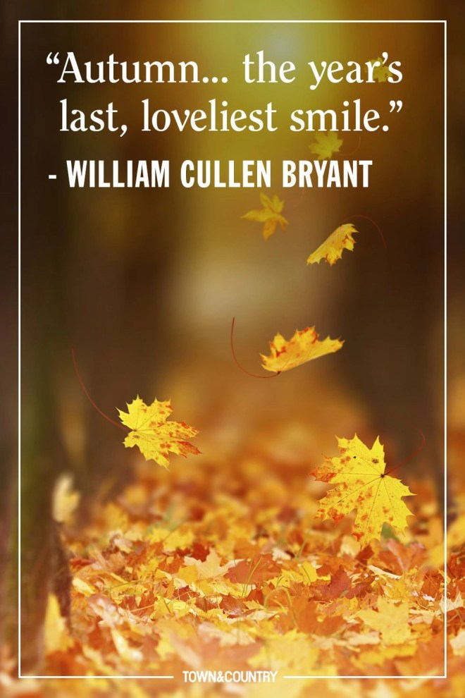 Autumn is the year's last loveliest smile.