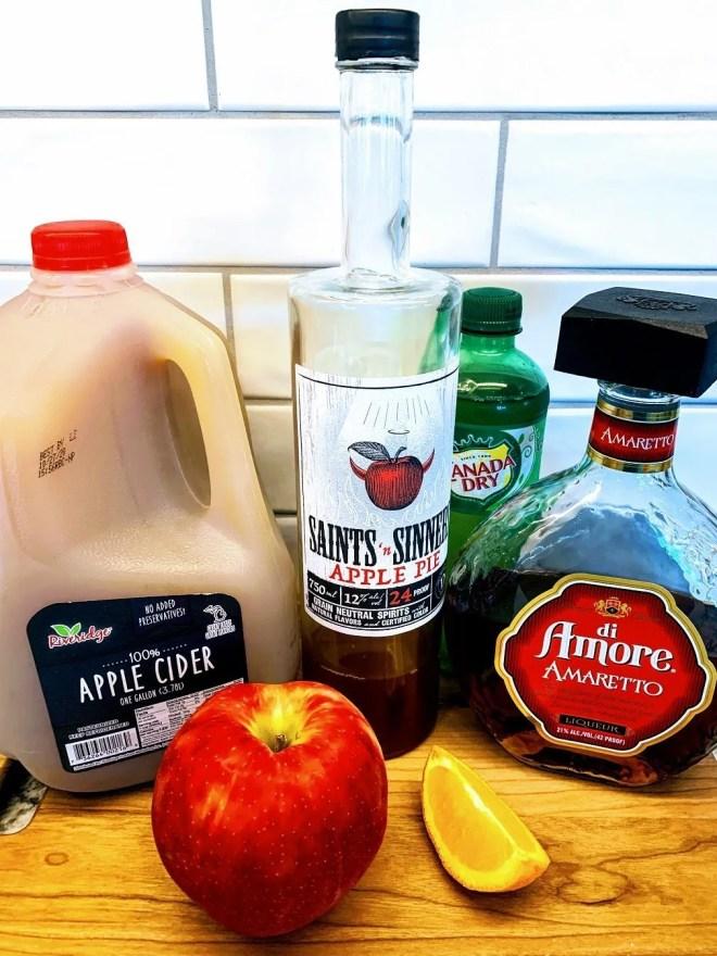 Ingredients for Apple Cider Sangria