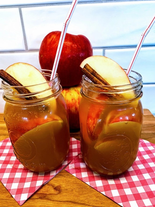 add a straw to your Apple Cider Sangria