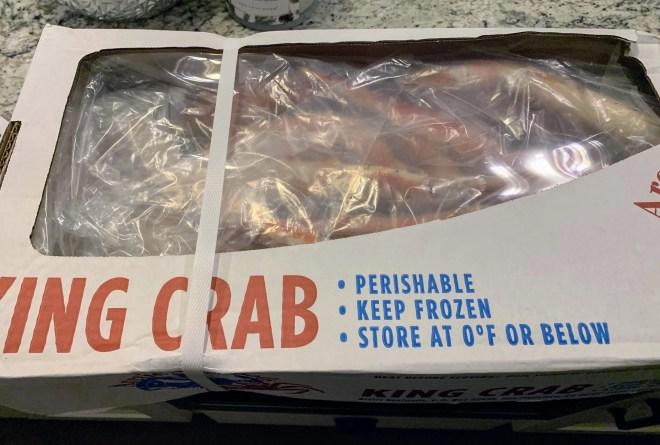 King Crab for these King Crab cakes was purchased at Costco.