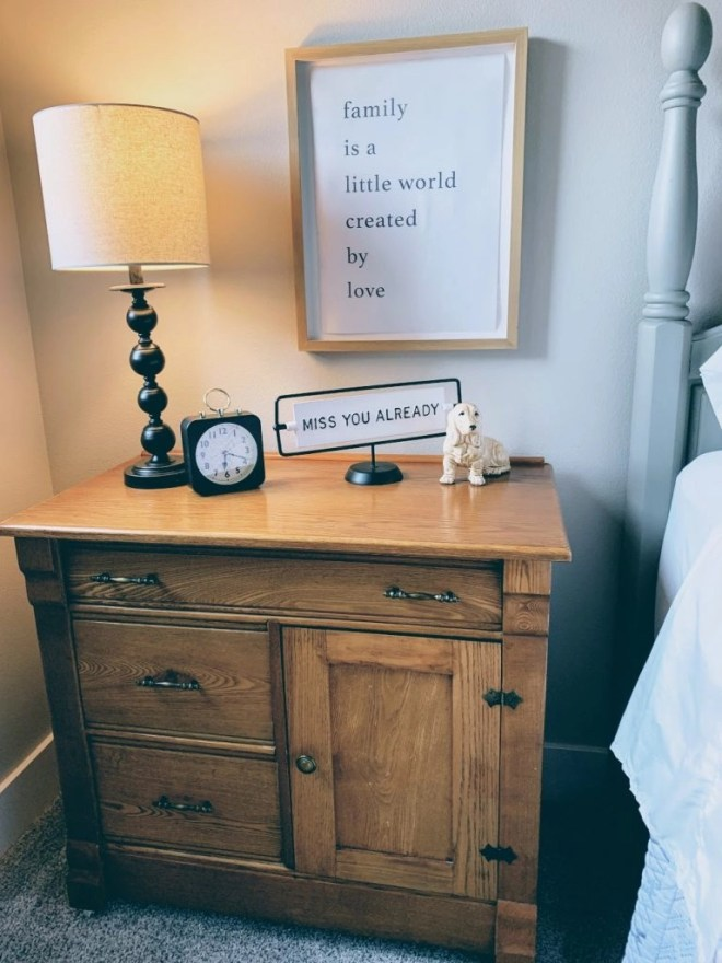 Antique dry sink in Guest Bedroom Makeover Using Family Keepsakes