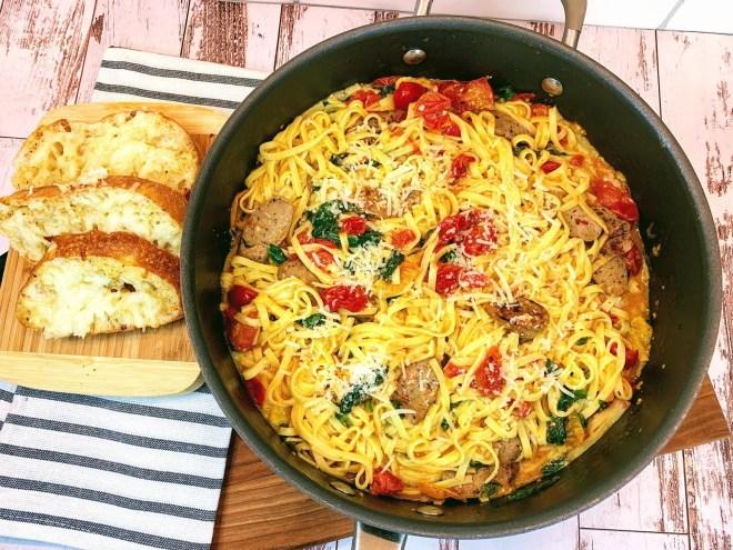 Garlic Butter & Tomato Pasta