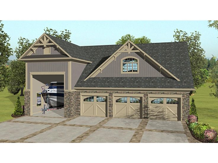 Carriage House Plan With 3-Car