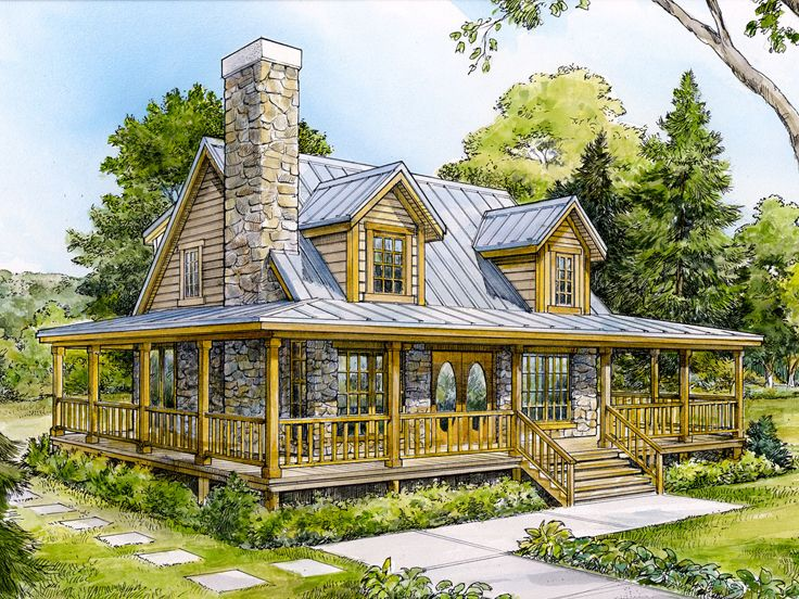 Small Mountain Home Plan Design