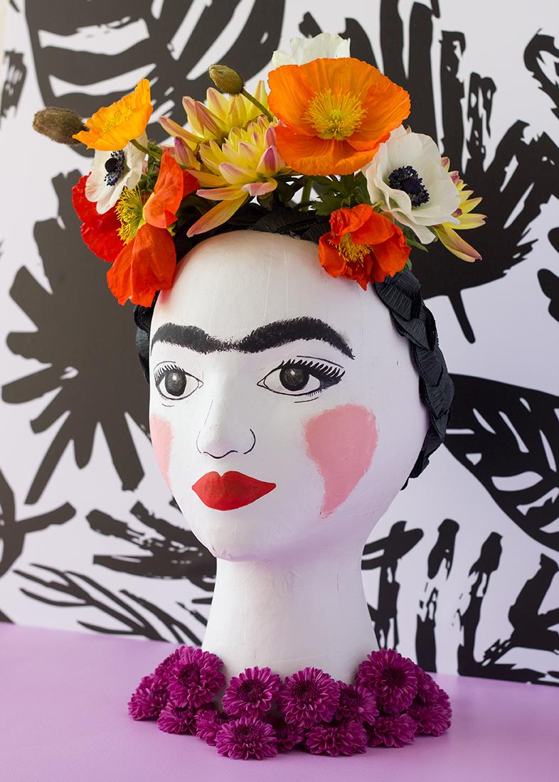 DIY Frida Kahlo Mannequin Head Vase Tutorial