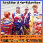 I invented this Joseph Coat of Many Colors Game a few years ago for Vacation Bible School. It could be used for a Sunday School or youth group activity as well. It was a huge hit with the kids of all ages.