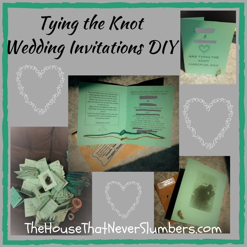 Tying the Knot Wedding Invitations DIY   The House That Never Slumbers