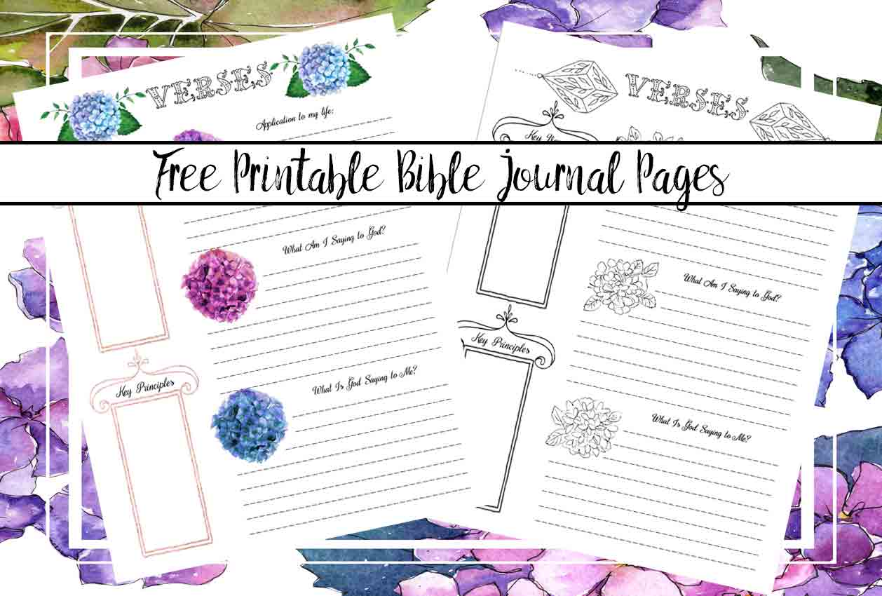 Free Bible Journaling Printables Including One You Can