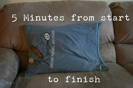 upcycle a pillowcase from a t shirt