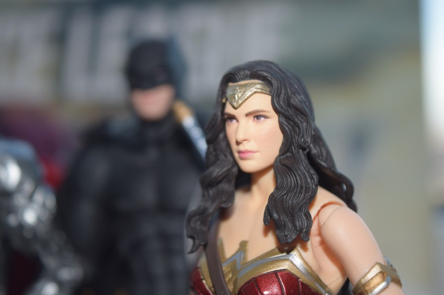 The Amazing Amazon is ready to fight in Medicom's rendition of Wonder Woman from JUSTICE LEAGUE.