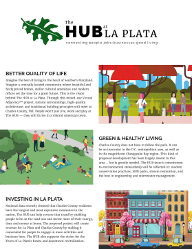 Infographic handout for The HUB-1