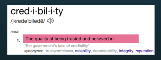 credibility is a key point in boosting sales through marketing