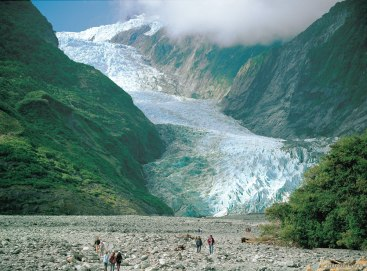 Franz Josef Glacier along the West Coast.