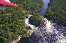 Big Moose Falls on the Berens River.