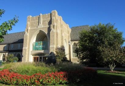 Notre Dame University's entrance