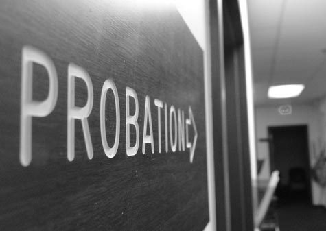 Probation sign with an arrow pointing to the right symbolizing the need to hire a qualified Houston Probation Revocation Attorney