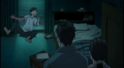 Shinichi's parents thinking he is on drugs 1-2-Parasyte anime Episode #1