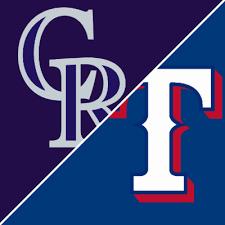 Game of the Week – Rockies @ Rangers