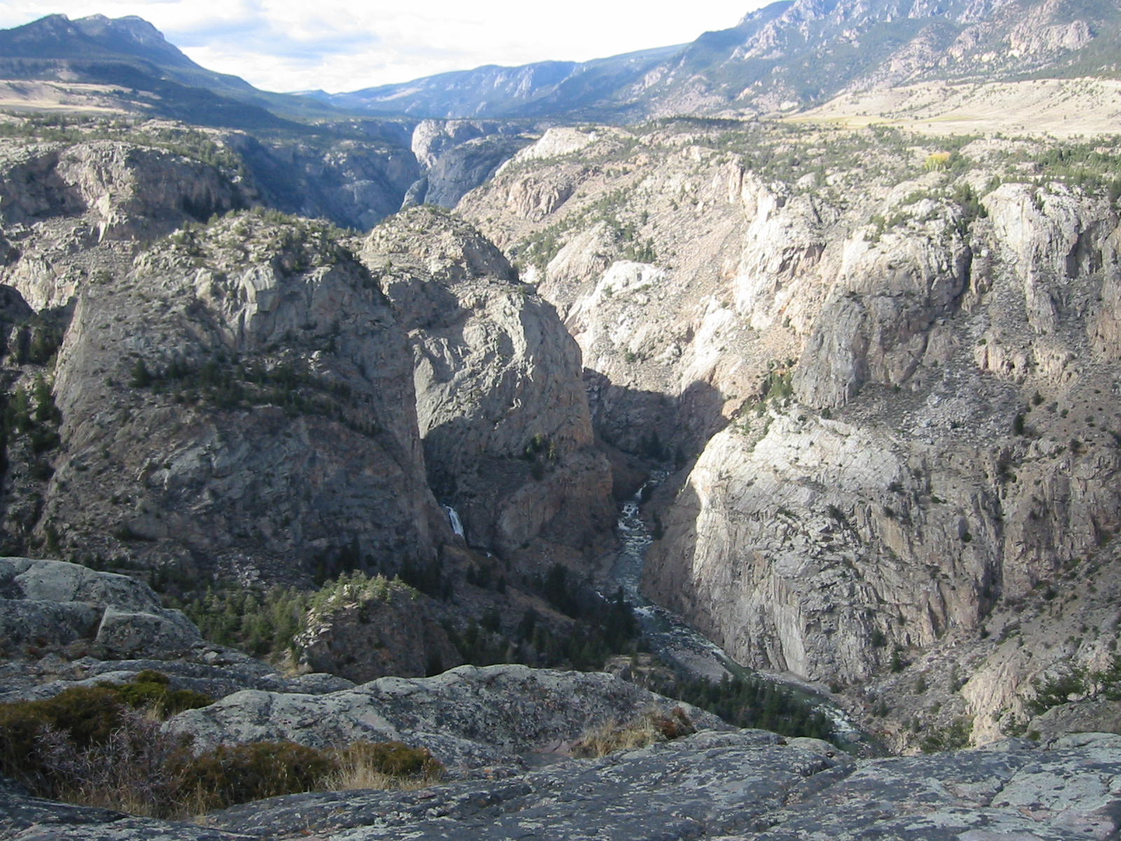 Clarks Fork's Canyon with Sunlight Falls