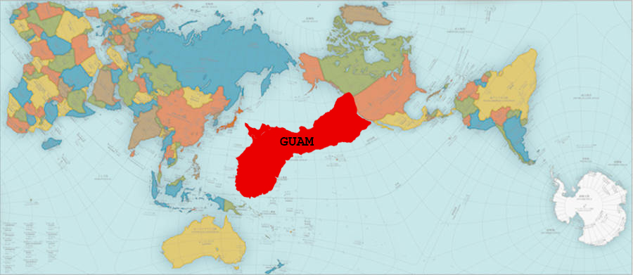 Guam On A World Map.A New More Accurate World Map Finally Shows How Fucking Big Guam