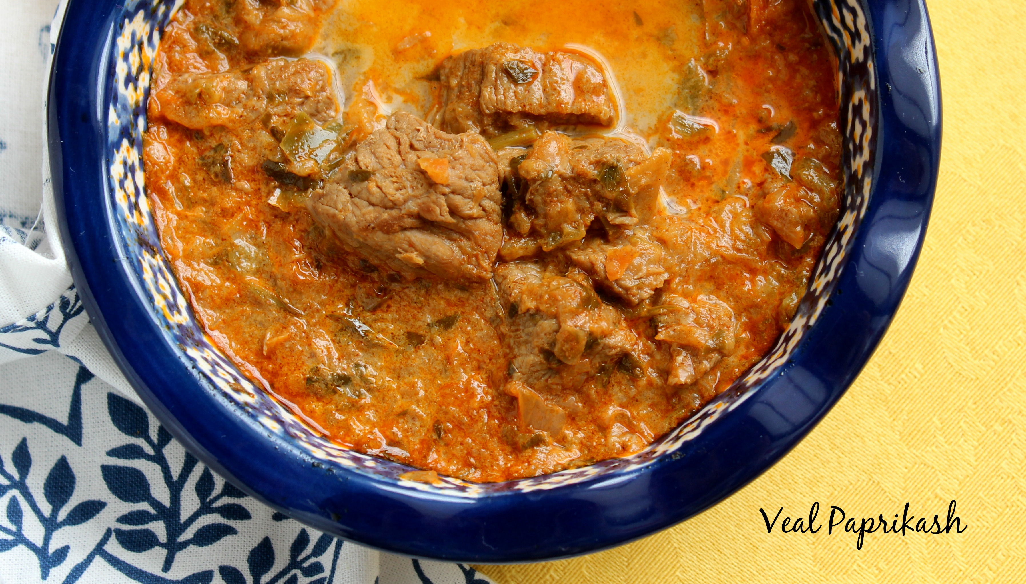 Not Too Much Pepper in THIS Paprikash!:  Mama Buddha's Veal Paprikash