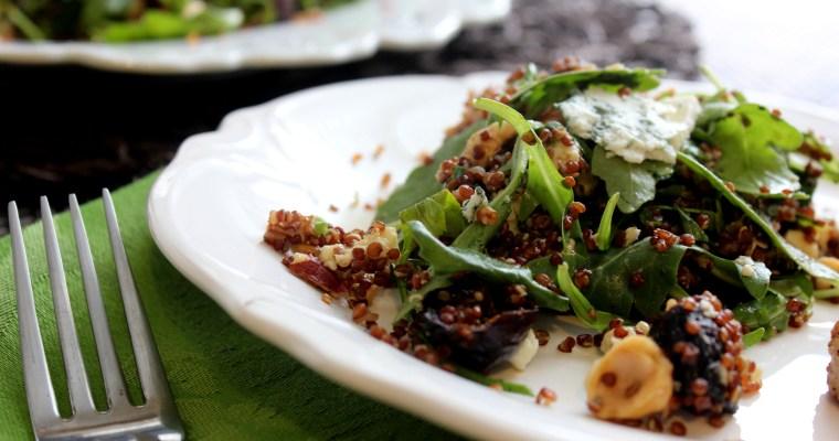 Figgy Fall Salad:  Roasted Fig and Hazelnut Quinoa Salad