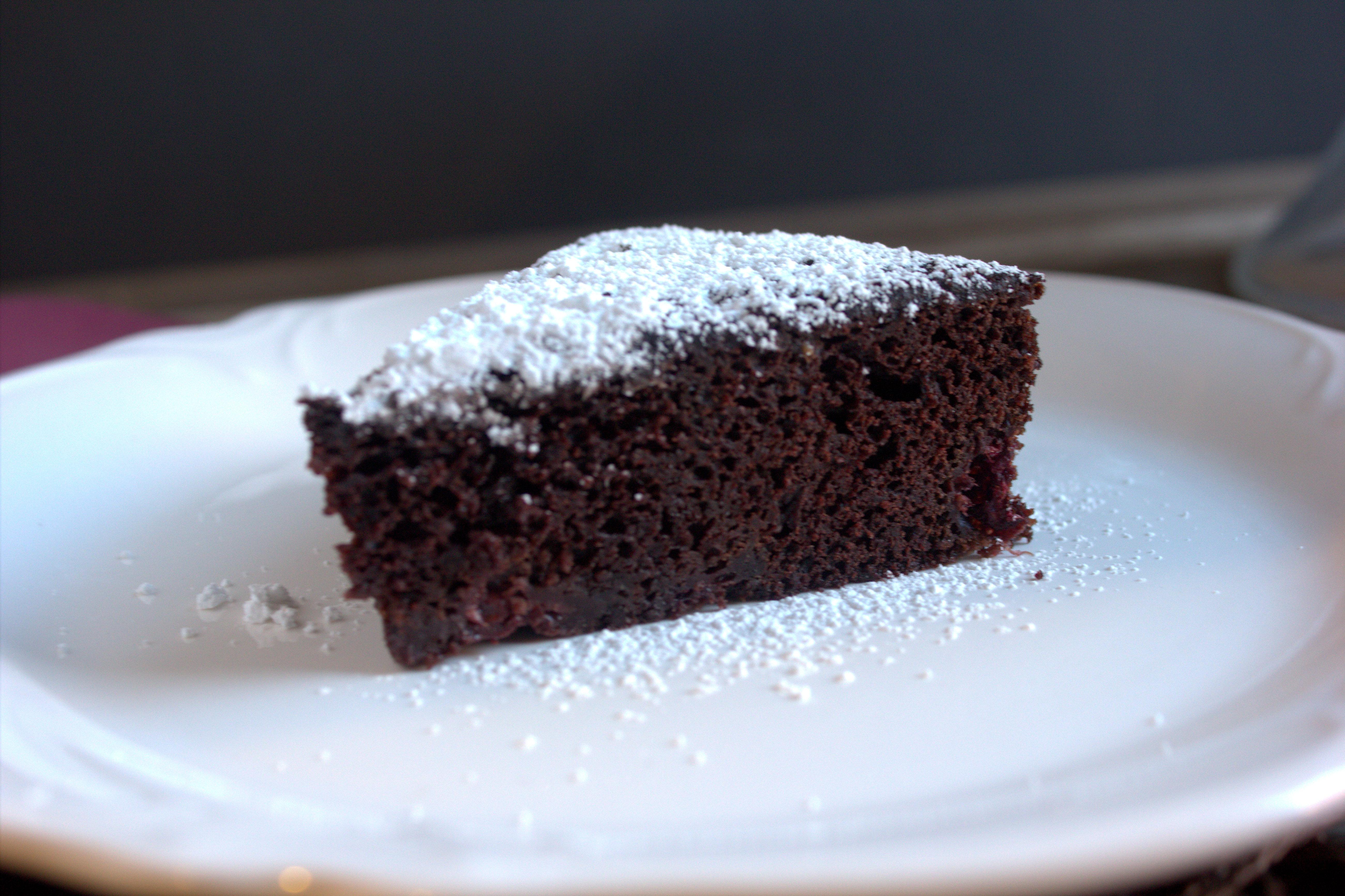 Red Wine Dark Chocolate Raspberry Cake