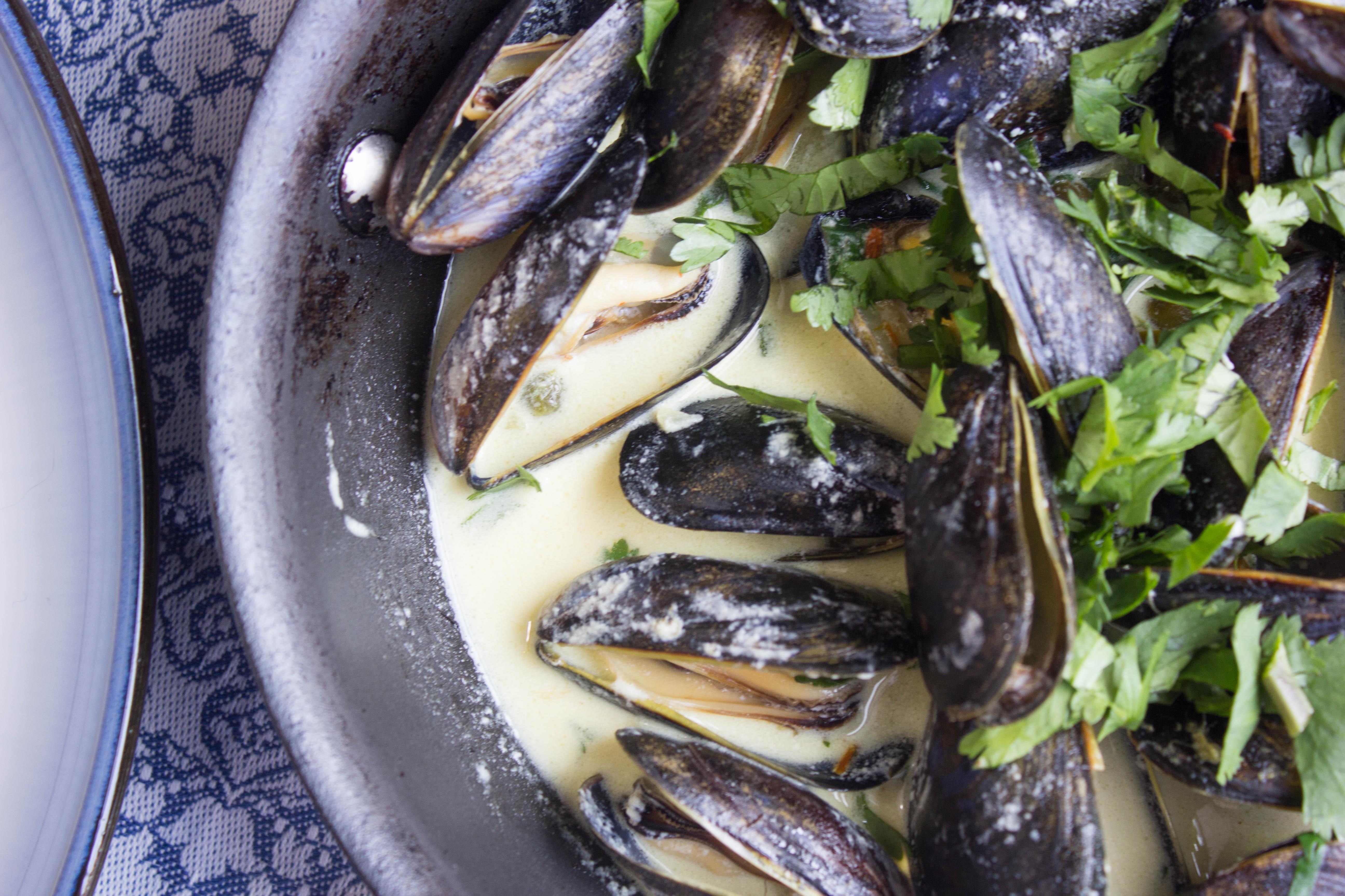 Saffron Cream Mussels
