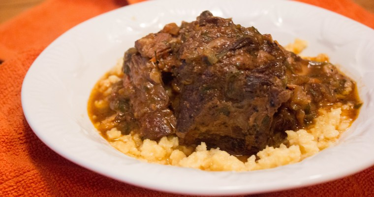 Slow Cooked Short Ribs with Grits
