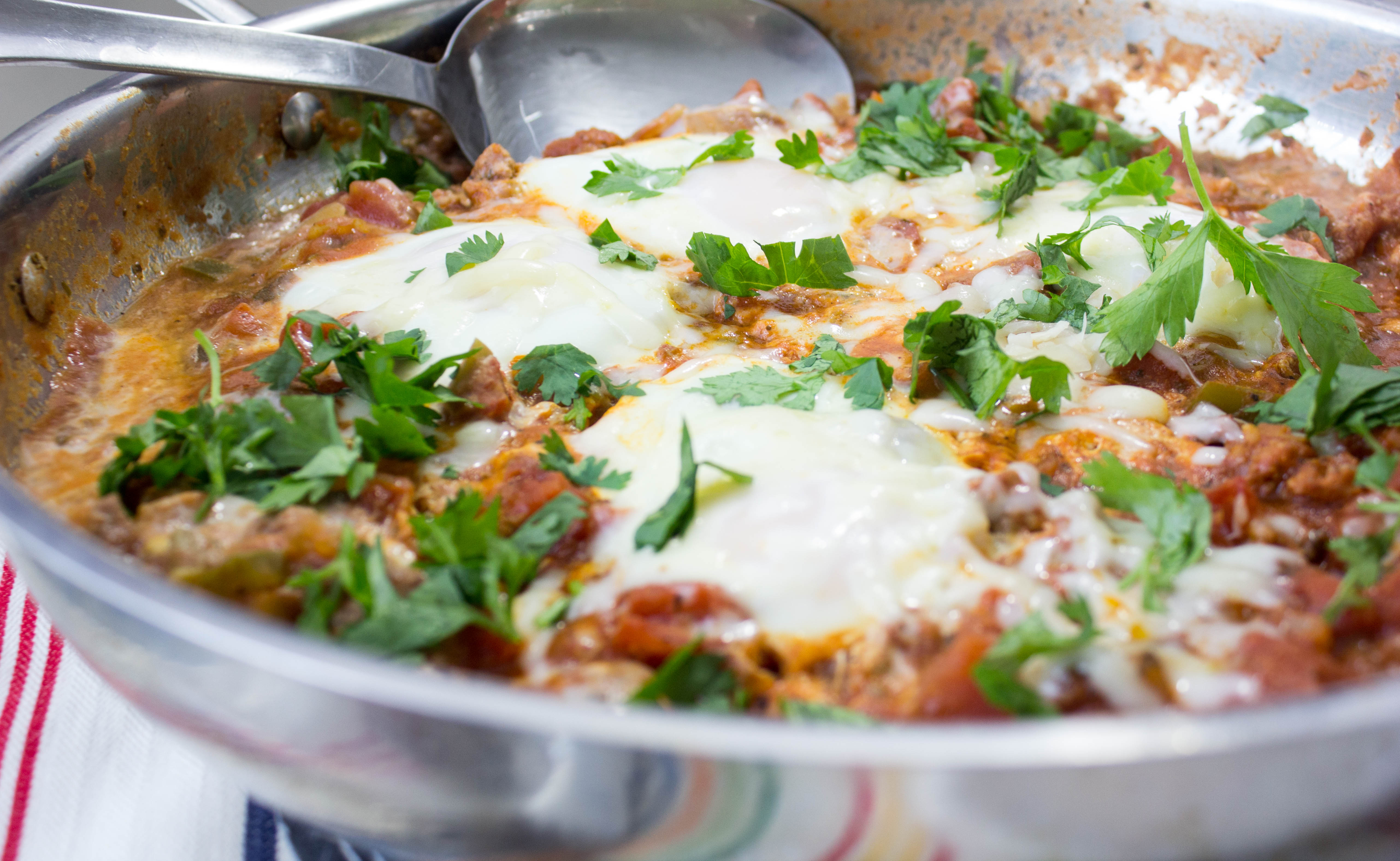 Poached Eggs in Spicy Mexican-Style Tomato Sauce