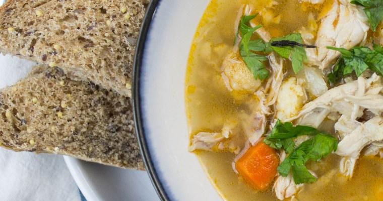 Chicken & Cauliflower Soup