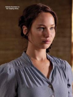 Movie Still: Katniss in Her Reaping Dress