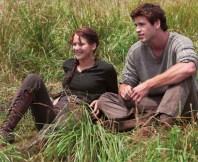 Movie Still: Katniss & Gale in Woods