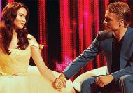 Movie Still: Katniss & Peeta at the Interview