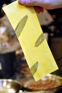 Sage pasta made at Cafe Juanita