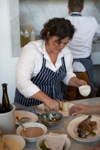 Renee Erickson at work in the kitchen
