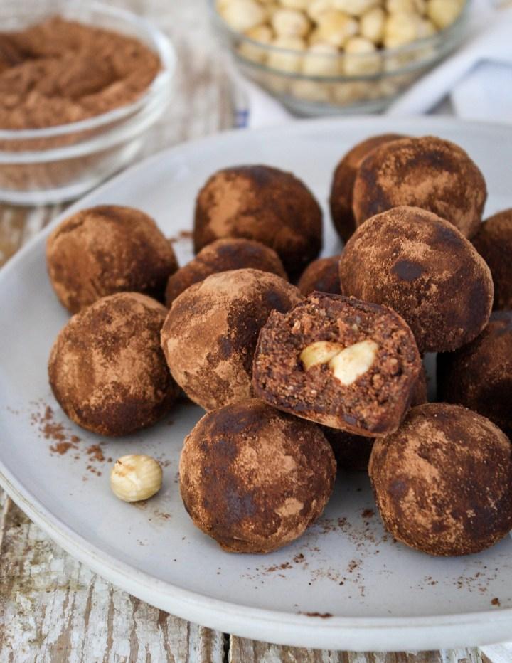 Peanut Butter Hazelnut Truffles