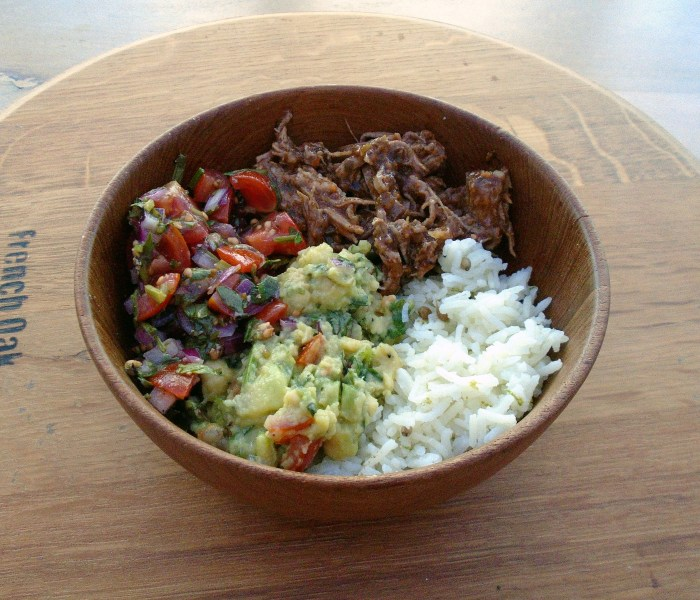 Slow Cooker Beef Burrito Bowl