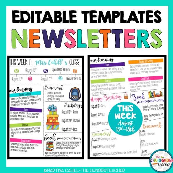 Editable Syllabus Templates, Editable Meet the Teacher Templates