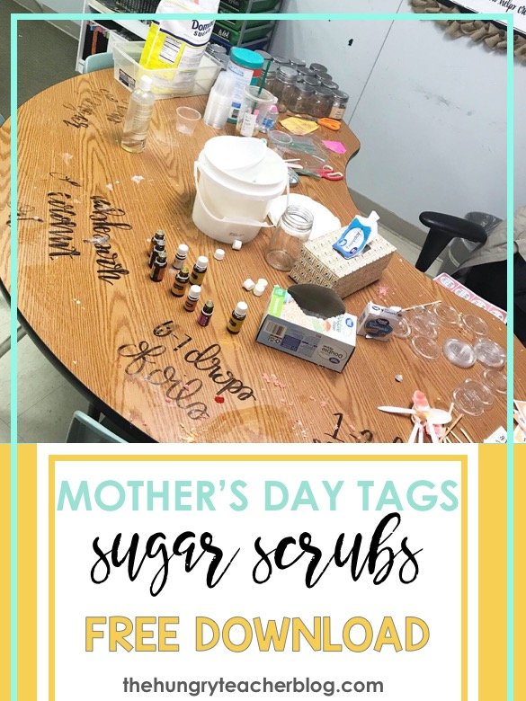 Mother's Day Citrus Sugar Scrubs Free Recipe and Printable Tag